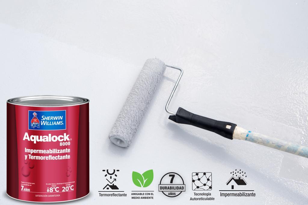 Impermeabiliza con Aqualock 8000