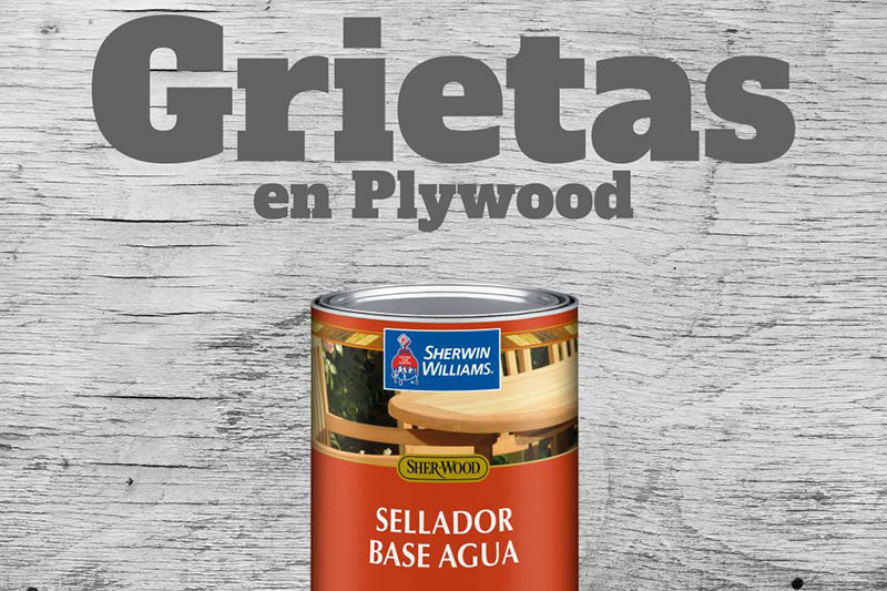 ¿Agrietamiento en Plywood?
